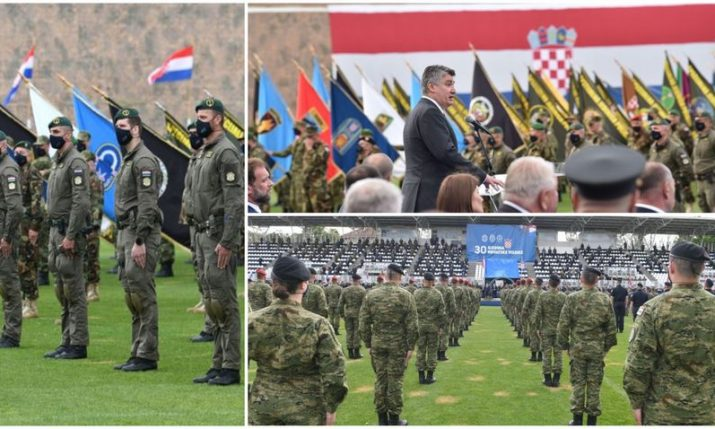 PHOTOS: 30th anniversary of Croatian Army formation marked with events