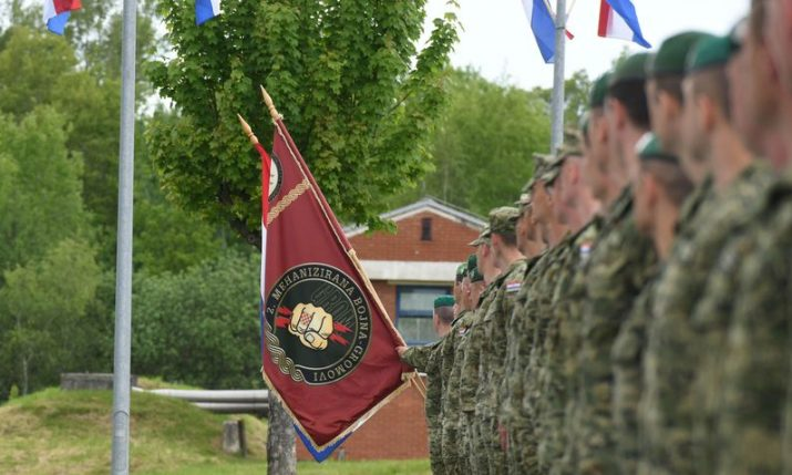 """30th anniversary of 2nd Guards Brigade """"Gromovi"""" formation held in Petrinja"""