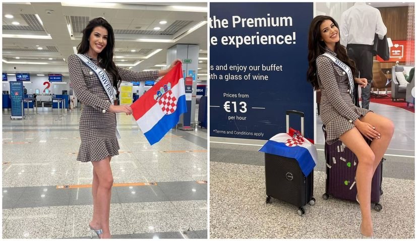 Miss Croatia departs for America for Miss Universe pageant