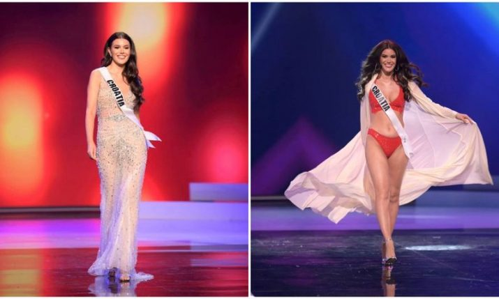 VIDEO: Miss Universe Croatia presents swimwear and evening gown at preliminary competition