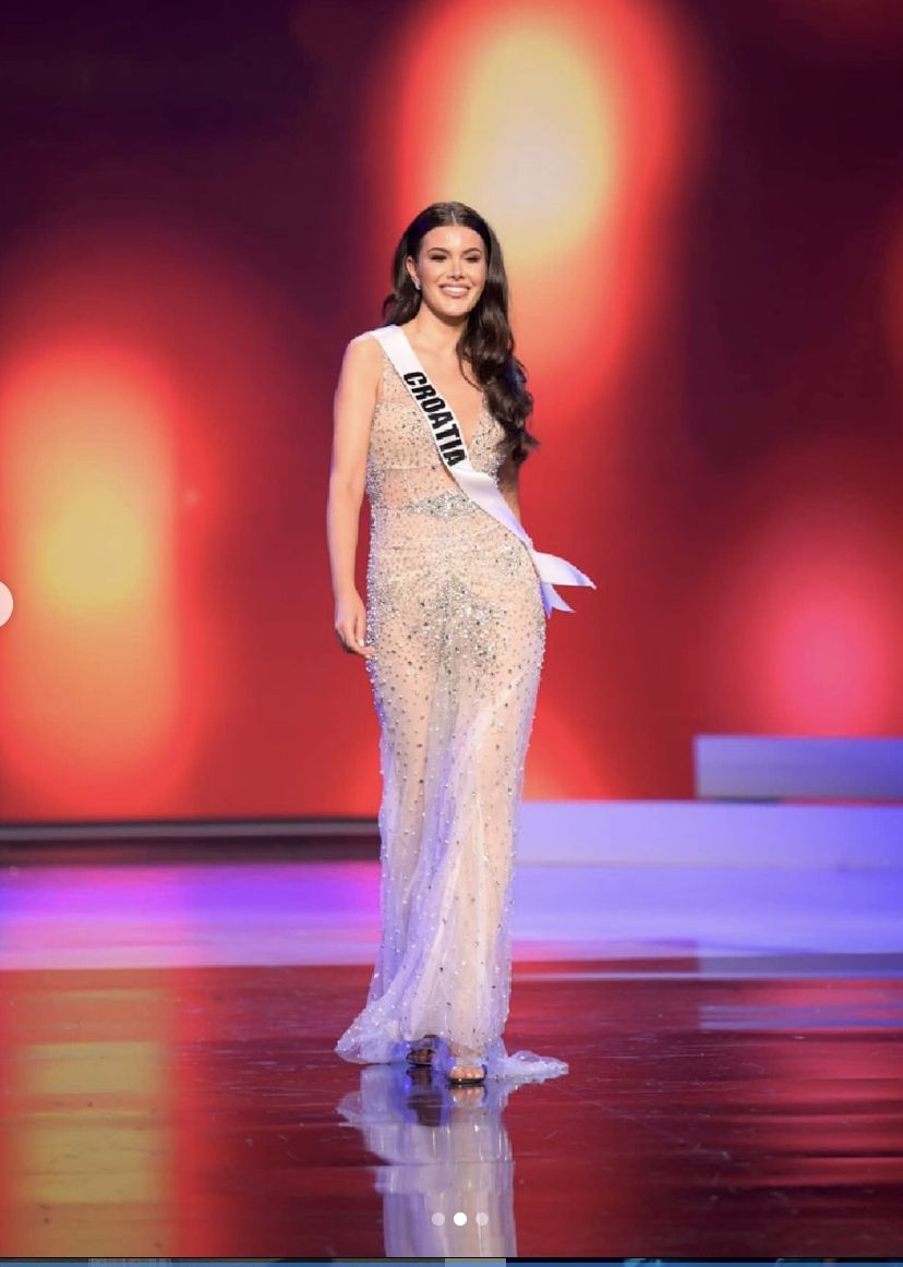 Miss Croatia at Miss Universe  swimsuit evening gown
