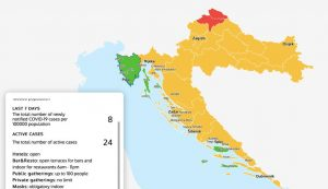 Covid map Croatia