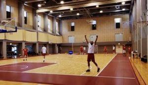 Croatian basketballer makes crazy shot