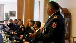 Croatian firefighter ready for wildfire season