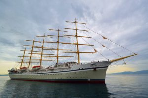 World's largest square-rigged cruise ship departs shipyard in Croatia where it was built