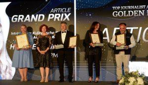 "Croatian National Tourist Board awarded the prestigious ""Golden Pen"" award"