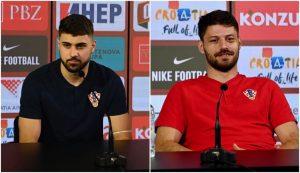 Joško Gvardiol and Bruno Petkovic talk to the press ahead fo Croatia v Scotland
