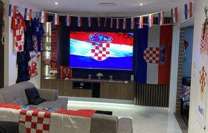 Passionate Croatia fans in Australia set up epic TV room for Euros
