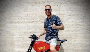 Sergio Ramos sends support to Spain at Euro on Rimac's bike