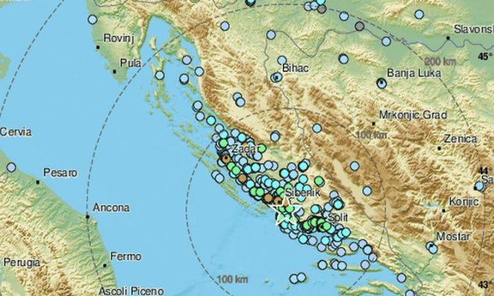4.7 magnitude earthquake hits Šibenik on Croatia's Dalmatian coast