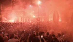 Crazy scenes in Zadar as city celebrates basketball title