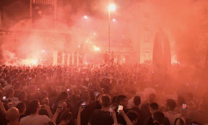 VIDEO: Crazy scenes in Zadar as city celebrates basketball title