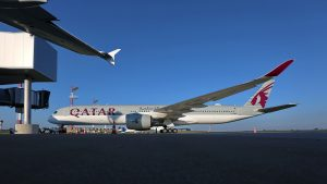 Qatar Airways' A350-1000 aircraft lands at Zagreb Airport for first time in history