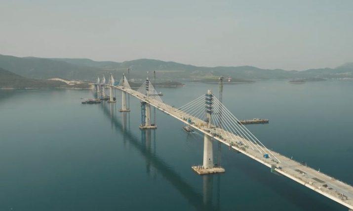 VIDEO: Pelješac bridge connected as final segment installed