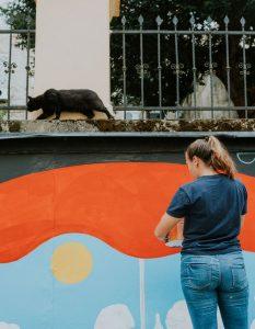 Three talented ladies create new street art in Zagreb