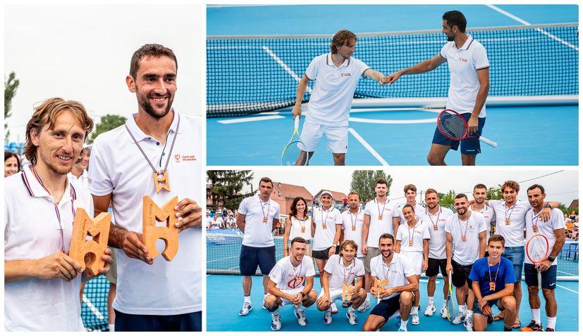 Modrić and Čilić win as Croatia's sport stars gather for charity tennis tournament