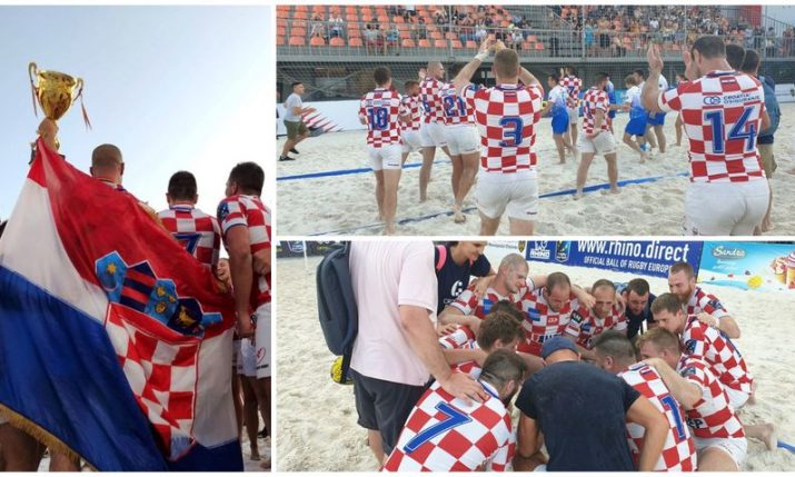Croatia win European beach rugby tournament in Moldova