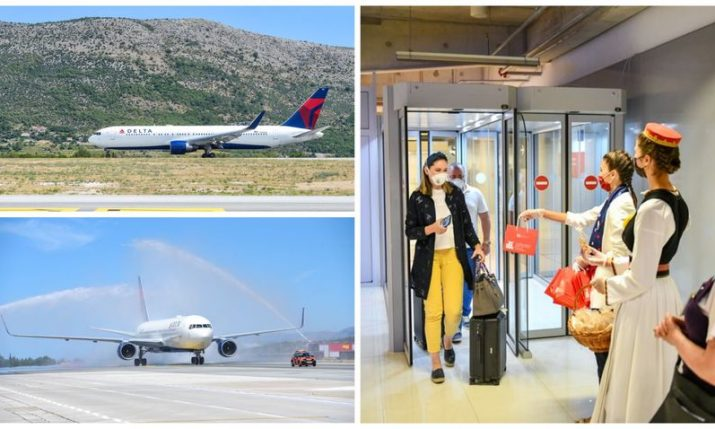 Full Delta Air Lines plane lands in Dubrovnik as New York service starts