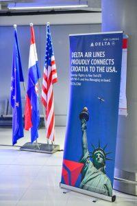 Delta Air lines first flight to Dubrovnik lands