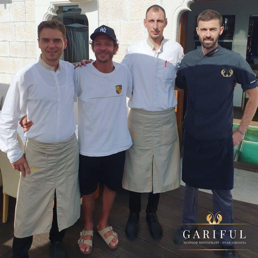 World champ Valentino Rossi dines at popular Hvar restaurant