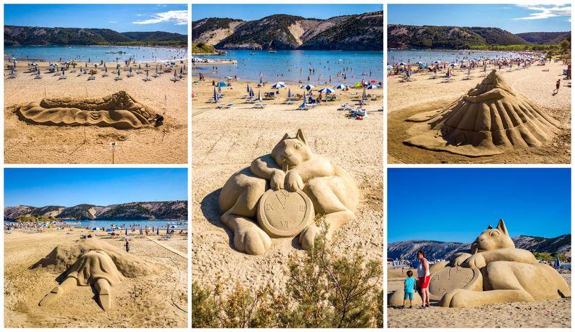 PHOTOS: Amazing sand sculptures on Paradise beach in Lopar