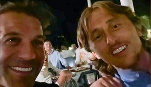 VIDEO Modrić singing Croatian hit with Del Piero in Zadar