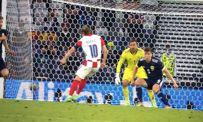 Luka Modrić's goal voted 3rd best at Euro 2020