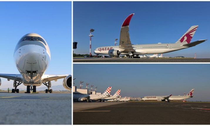 PHOTOS: Qatar Airways' A350-1000 aircraft lands at Zagreb Airport for first time in history