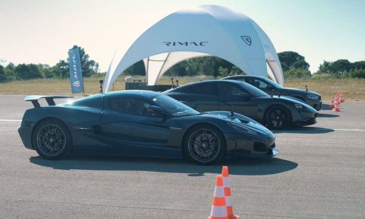 VIDEO: Rimac Nevera takes on Porsche Taycan and BMW M5 in a drag race