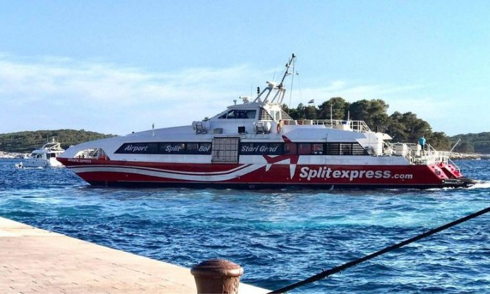 Catamaran connecting Split airport and city with Hvar and Brač commences