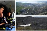 PHOTOS: President observes damage caused by devastating fire near Trogir from the air