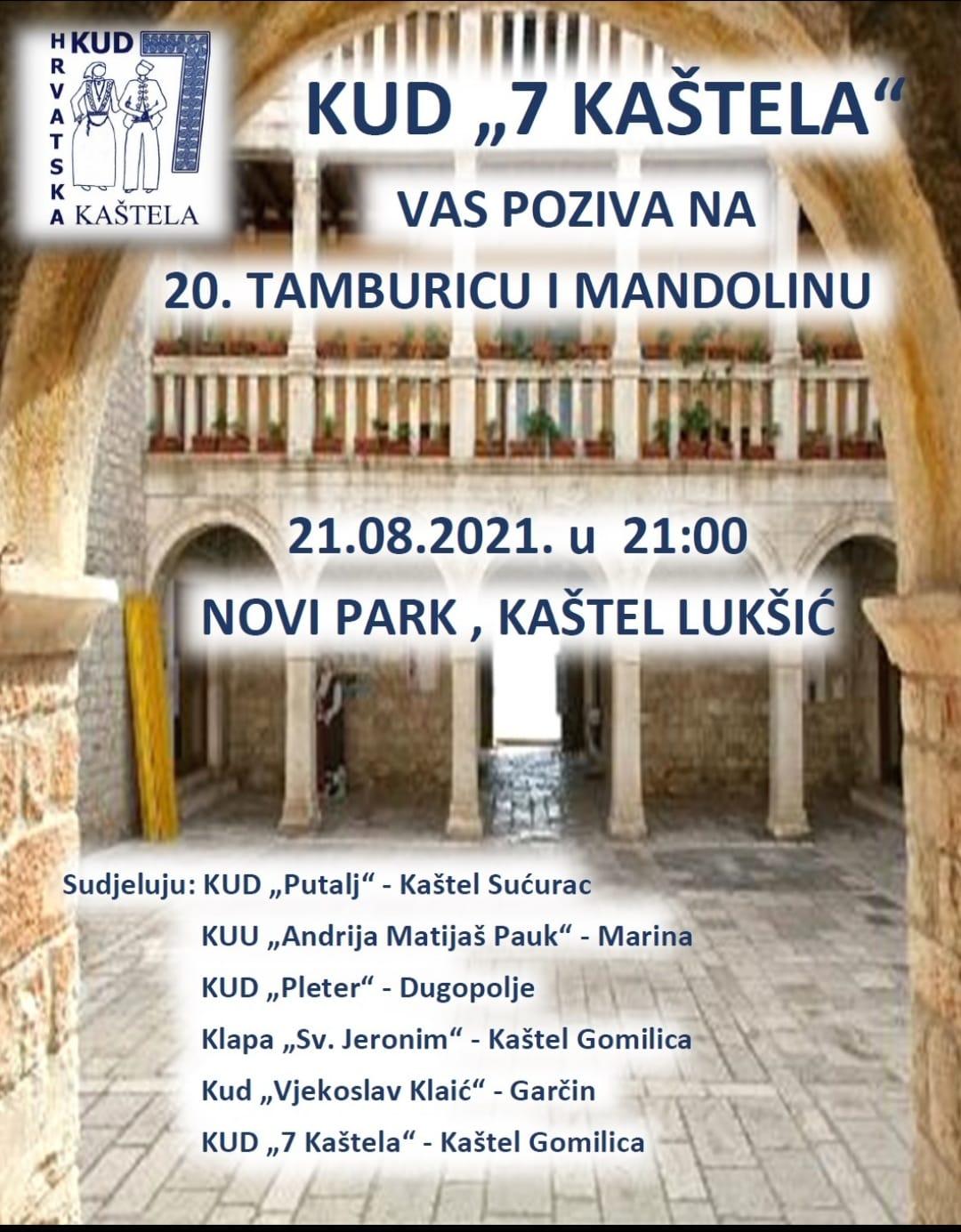 20th traditional 'Tamburica & Mandolin' to be held in Kaštel Lukšić