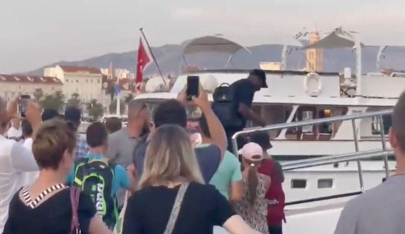 Michael Jordan arrives in Croatia on vacation