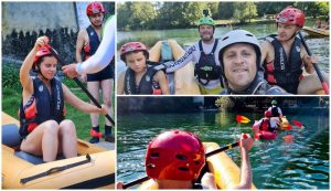 Rafting for the blind for first time on Croatia's Mrežnica river