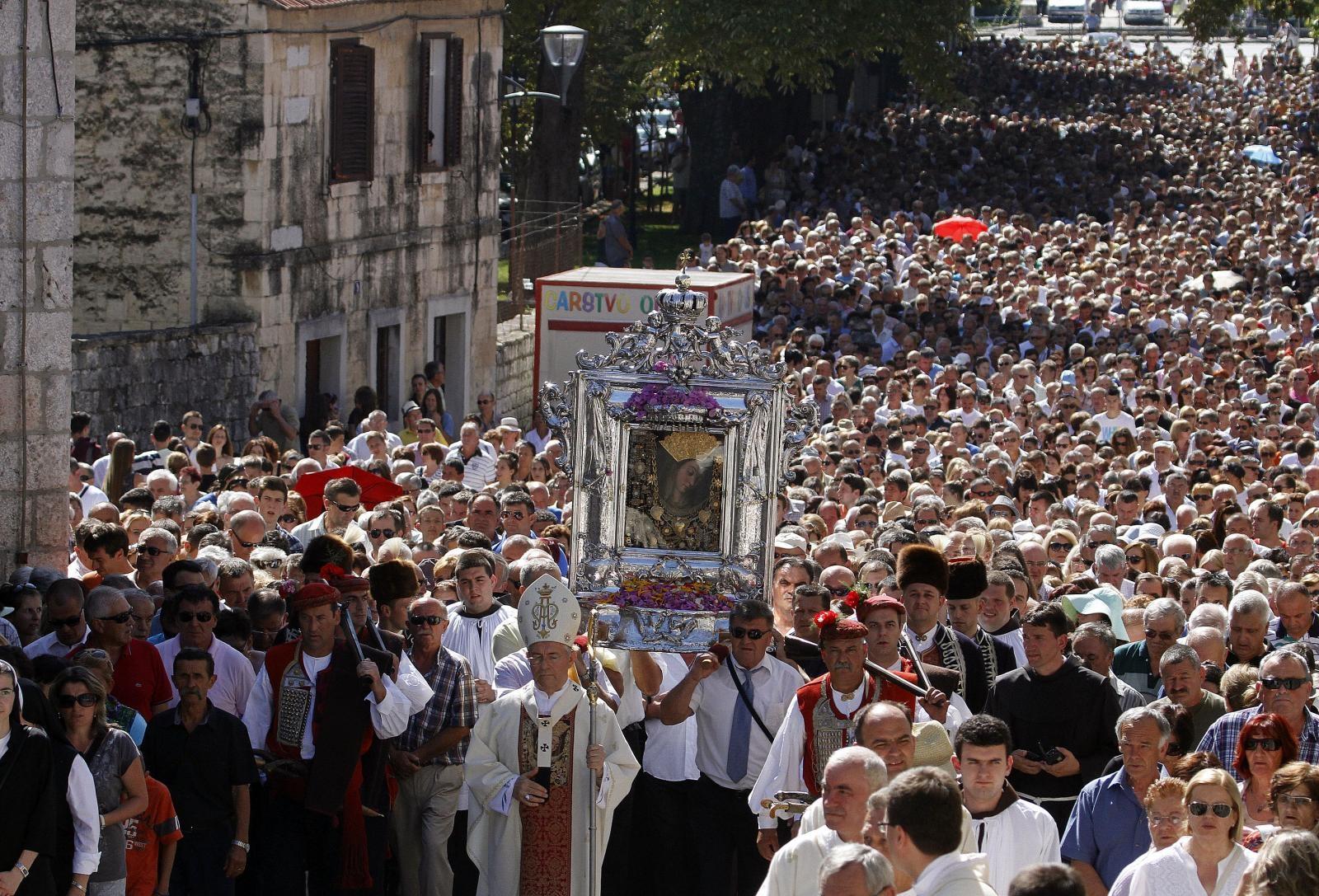 croatians celebrate velika gospa