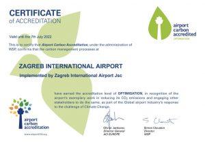 Zagreb airport carhon accreditation