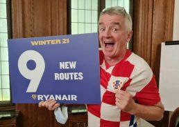 Ryanair unveils first Zagreb winter flight schedule and new routes