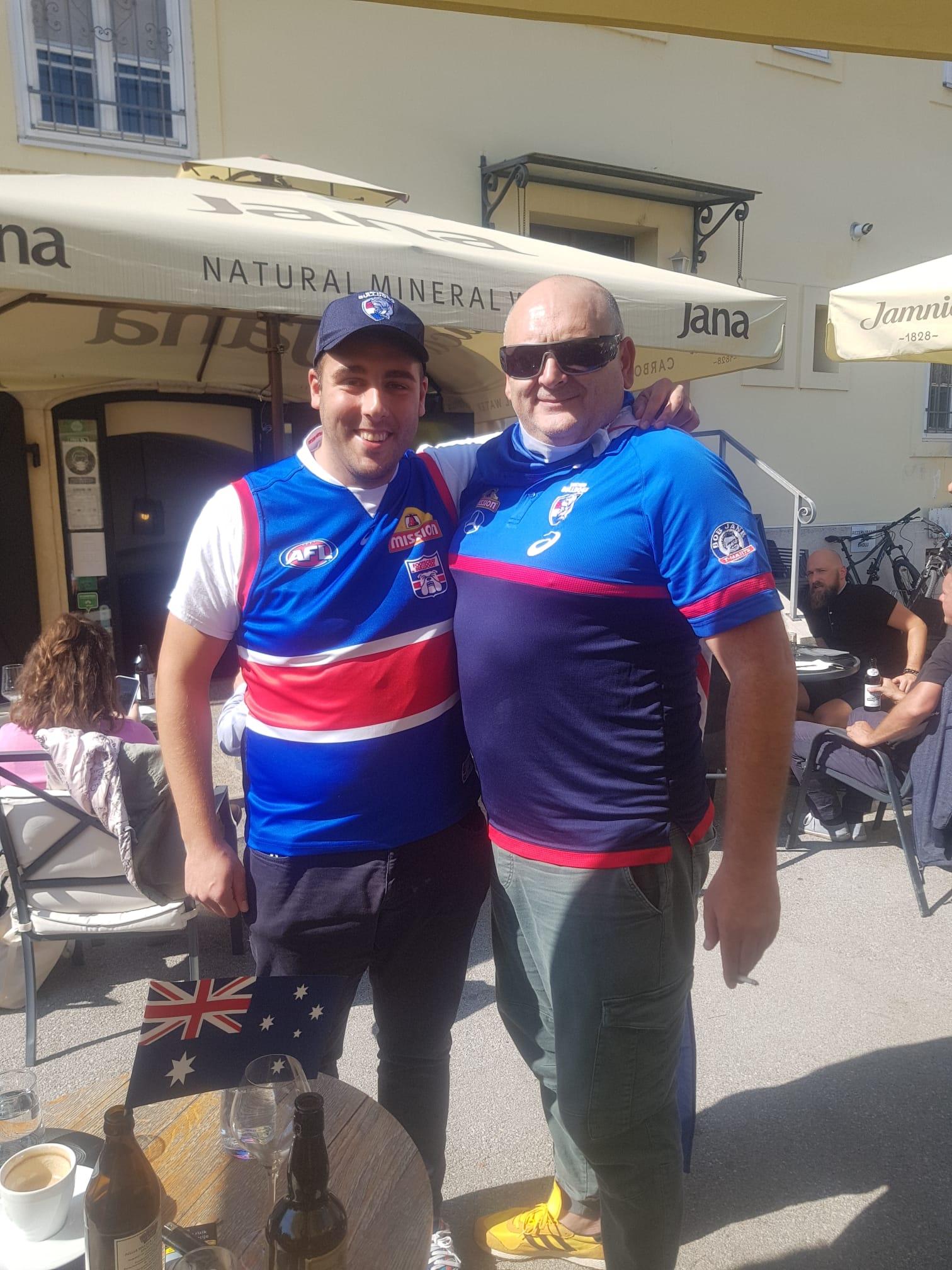 Enjoying the AFL Grand Final in Croatia