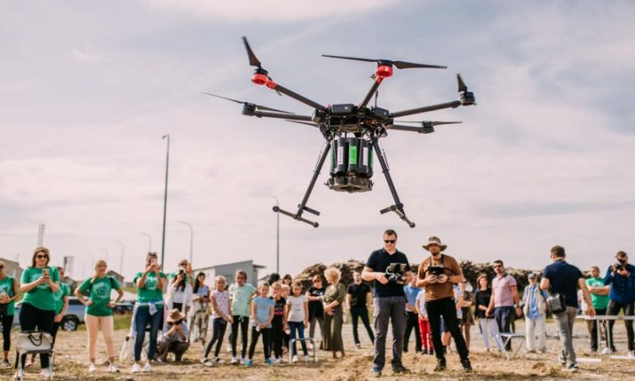 First afforestation action using a drone takes place in Croatia