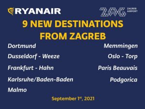 Ryanair welcomes second based aircraft in Zagreb - 9 new routes