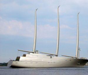 Sailing yacht A arrives in Croatia