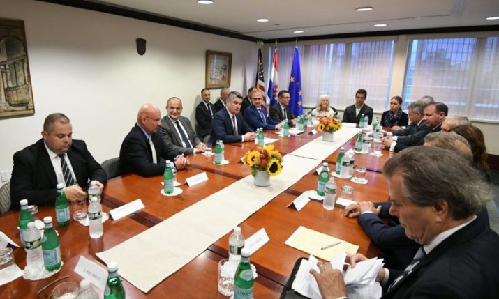American-Croatians from business and scientific community meet with the presidentin New York