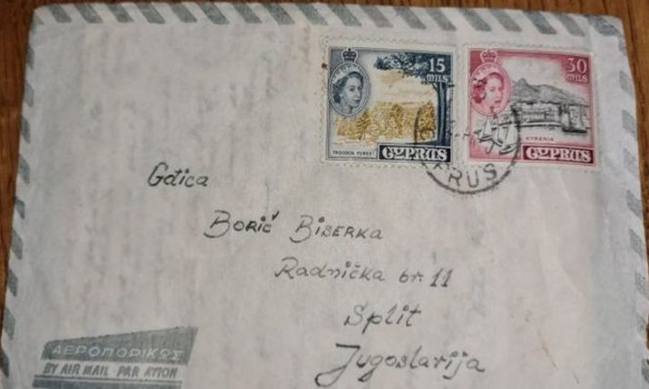Letter sent in 1960 to woman in Split found – recipient or sender sought