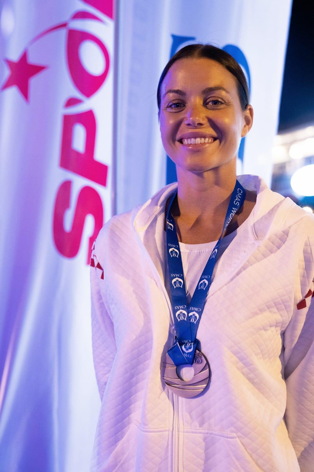 Croatian freediver Mirela Kardašević wins bronze medal at World Championships