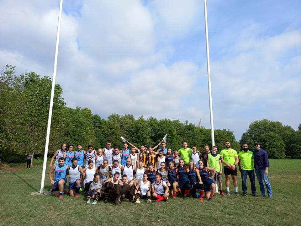 Grand opening of the first Australian rules football ground in Croatia