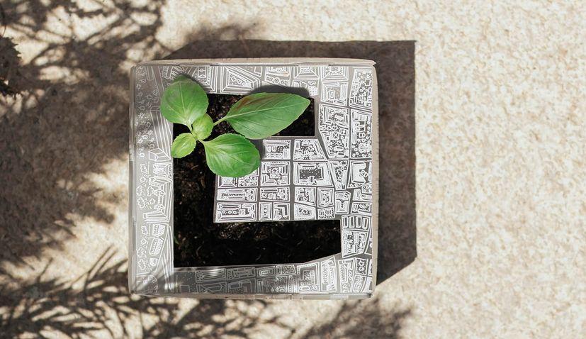 Mojati designs herb pot in form of Zagreb's downtown parks