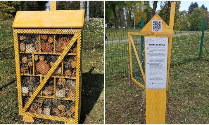 First bee hotel set up in Karlovac