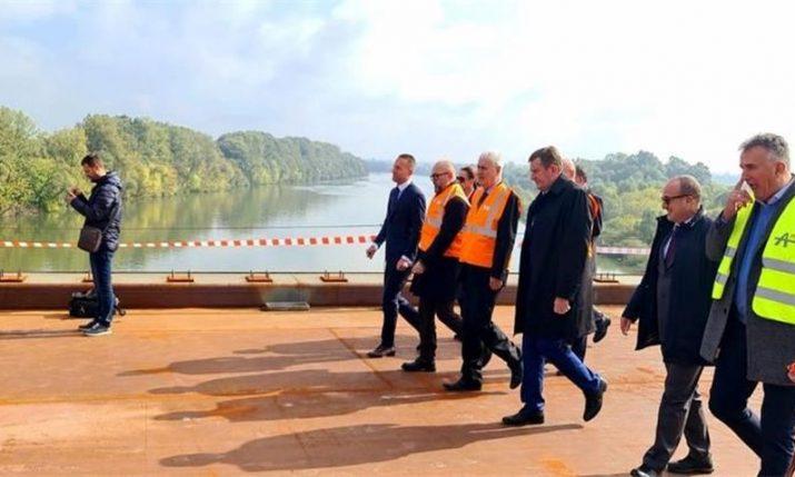 Croatia-Bosnia bridge across River Sava at Gradiška fully joined together