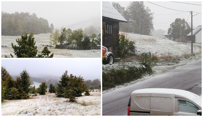 PHOTOS: First snow of the season in Croatia