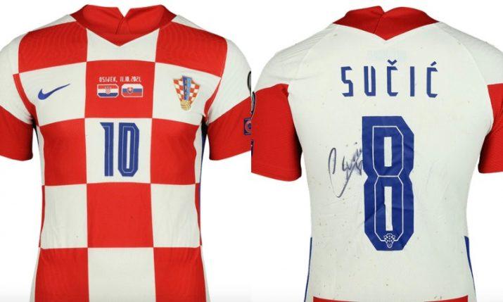 Worn Croatia match shirts sell for over one million kuna